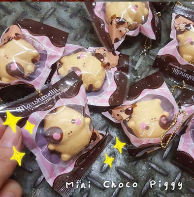 RARE Creamiicandy Puni Maru Choco Mini Roasted Marshmelli Pig Piggy Squishy