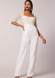 VIRGOS LOUNGE BRIDAL EMBELLISHED JUMPSUIT