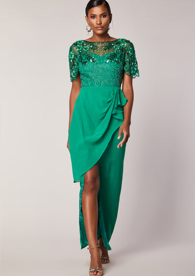 Ariann Dress Green Sheer