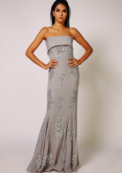 CUSTOM BRIDESMAID Astor Dress Grey