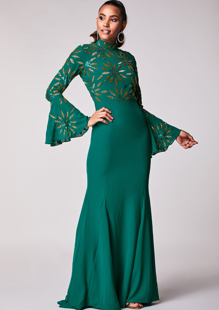 Belammy Dress Maxi Teal