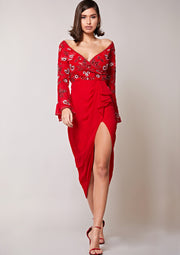 Candra Dress Red