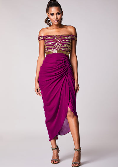 CUSTOM BRIDESMAID Caz Dress Wine