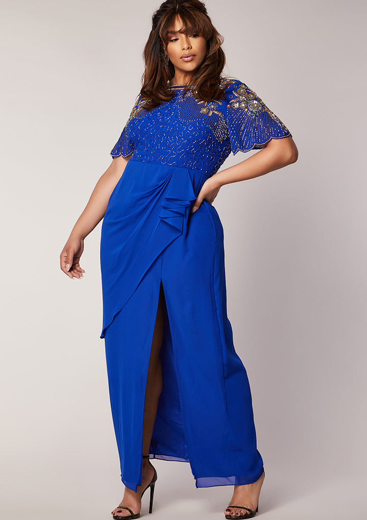 CURVE Denise Dress Maxi Blue