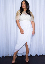 CURVE Denise Dress White Sheer