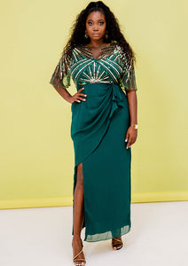 CURVE Donatella Wrap Dress Green