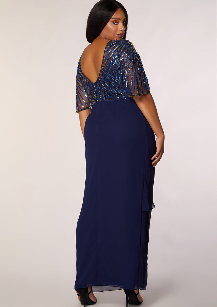 CURVE Donatella Wrap Dress Navy