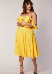 CURVE Ebonee Dress Yellow