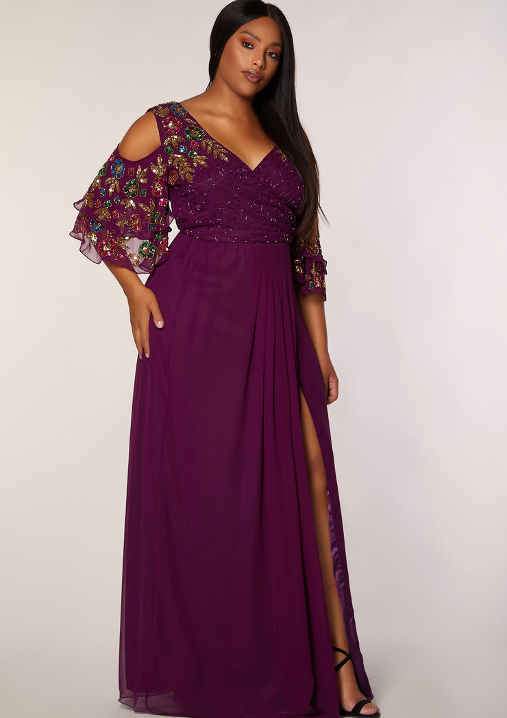 CURVE Elanna Dress Plum