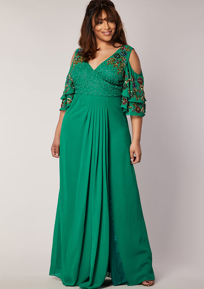 CURVE Elanna Dress Green