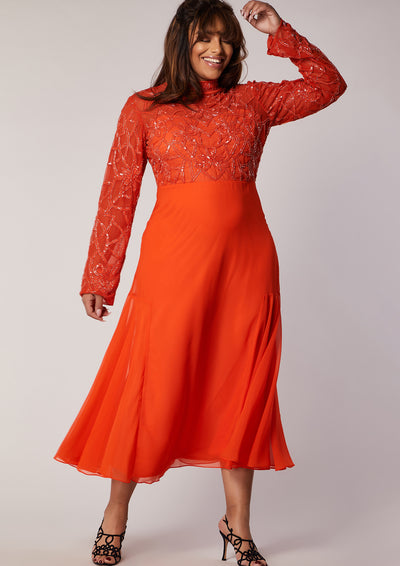 CURVE Naya Dress Orange
