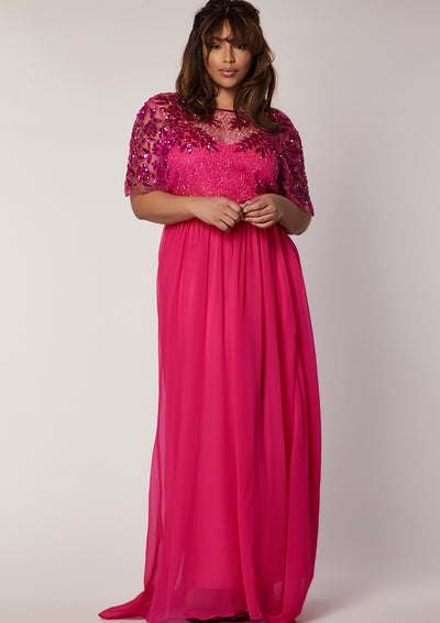 CURVE Rahaya Dress Fuschia