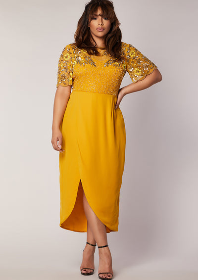 CURVE Rahaya Dress Wrap Mustard