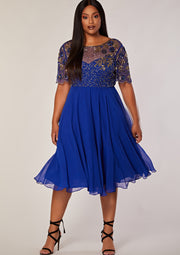 CURVE Rahaya Dress Skater Blue