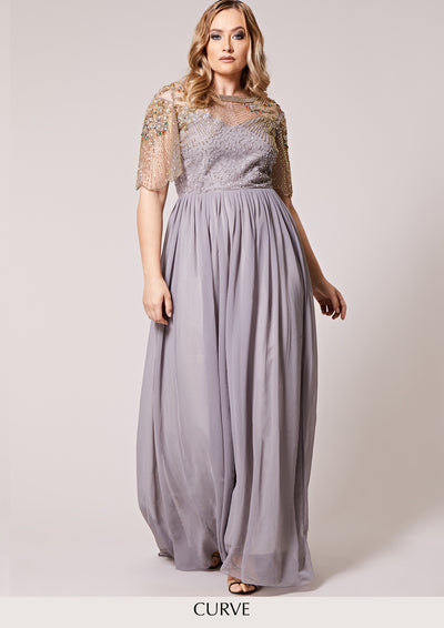 CURVE Raina Dress Sheer Silver