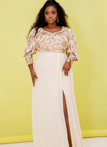 CURVE Selina Dress Cream