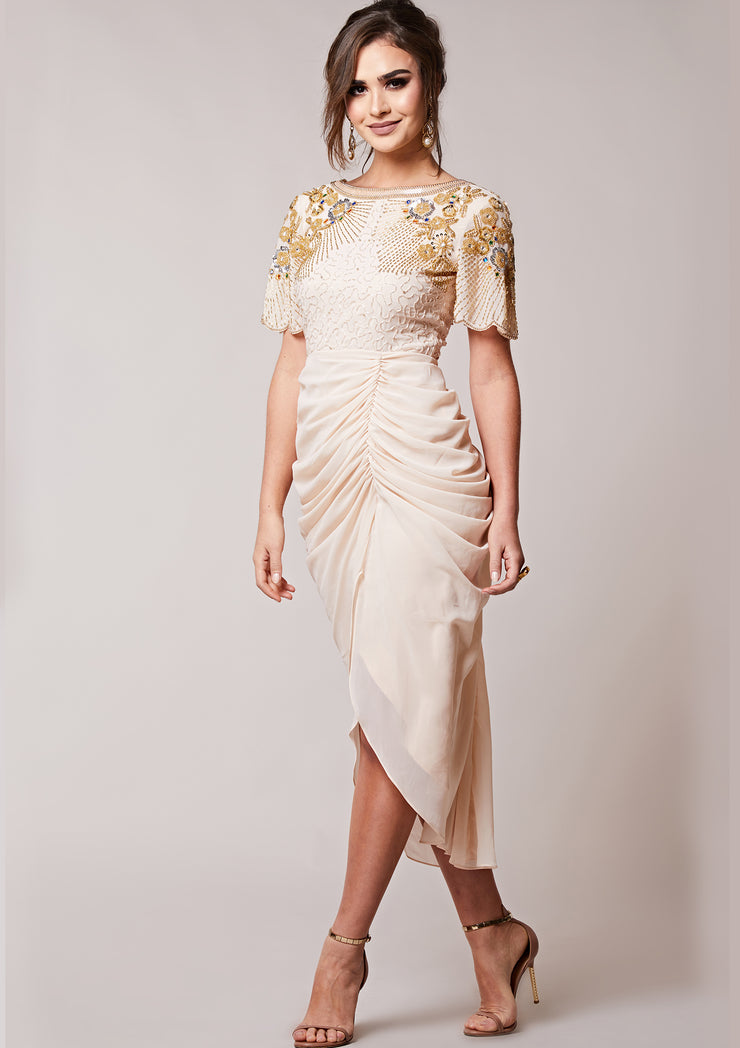 Denise Dress Beige