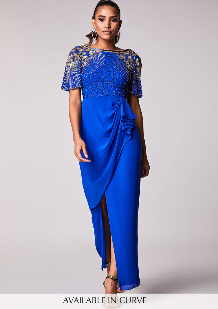Denise Dress Maxi Blue