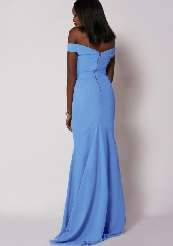 Dominic Dress Powder Blue
