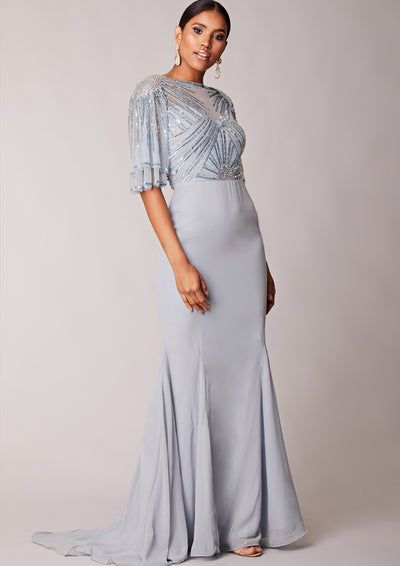 Donatella Dress Icy Blue