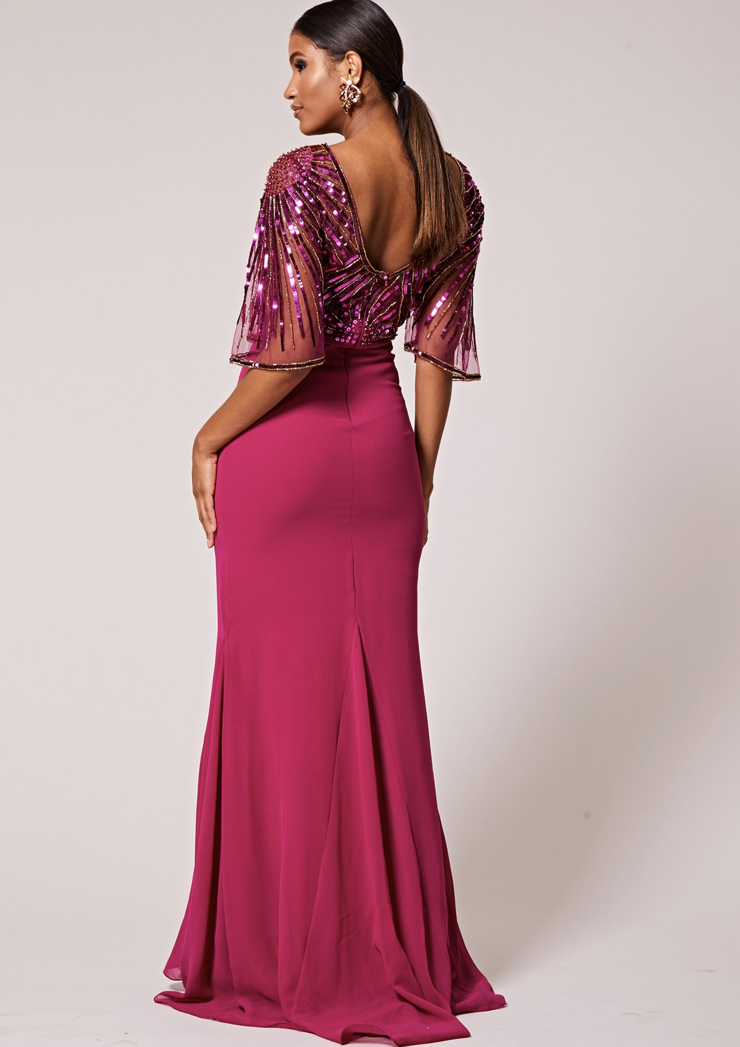Donatella Dress Magenta