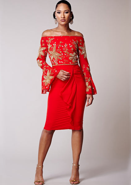 Donata Dress Red