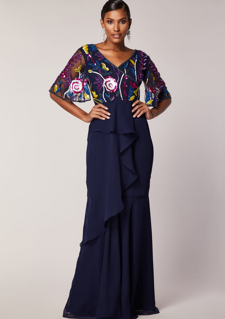 Dorinda Dress Navy