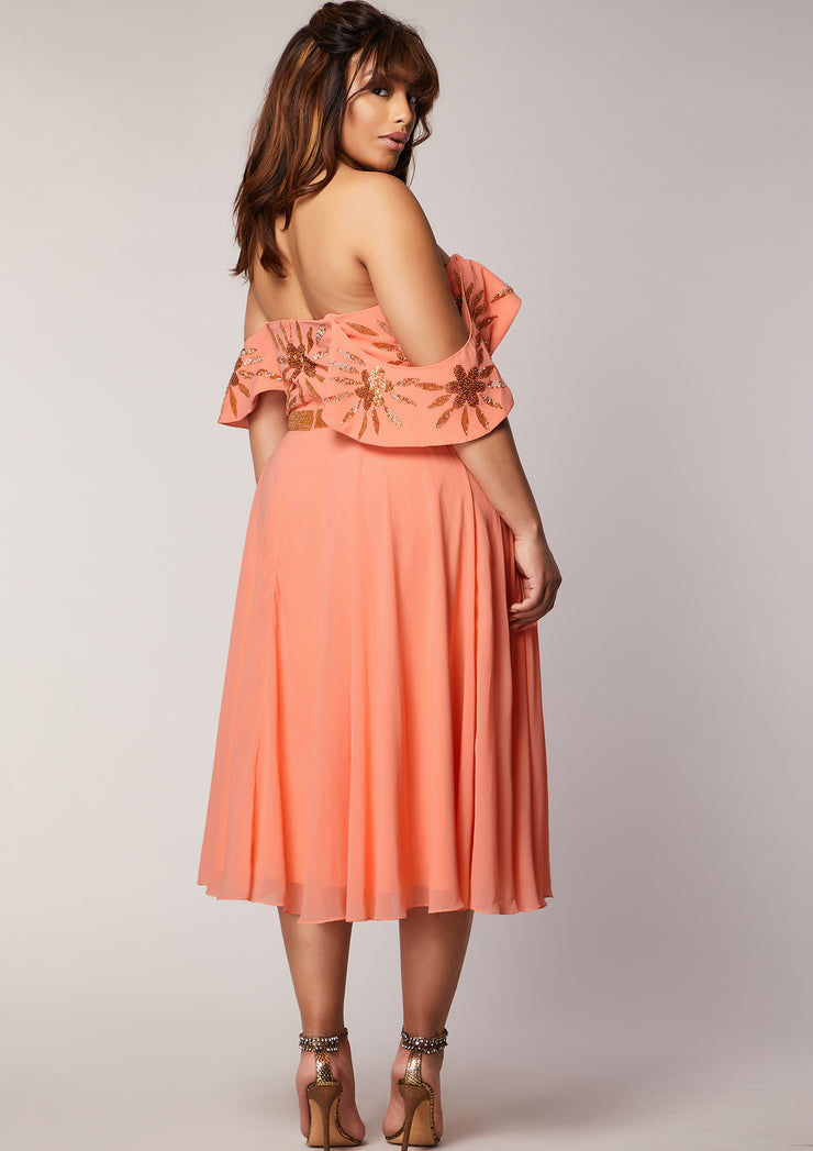 CURVE Ebonee Dress Peach