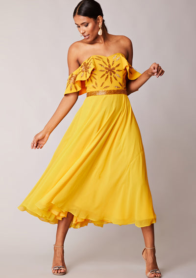 Ebonee Dress Yellow