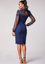 Eleanor Dress Navy