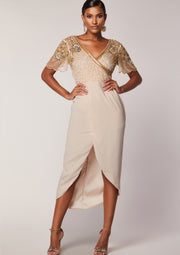 Julisa Dress Beige Sheer