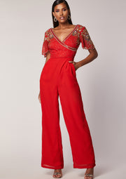 Julisa Jumpsuit Red