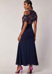 Kaira Dress Navy Multi
