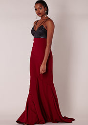 Knox Dress Maroon