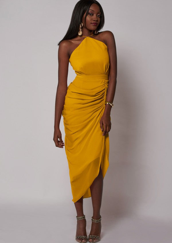 Laurent Dress Mustard