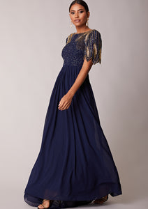 CUSTOM BRIDESMAID Lena Full Maxi Navy