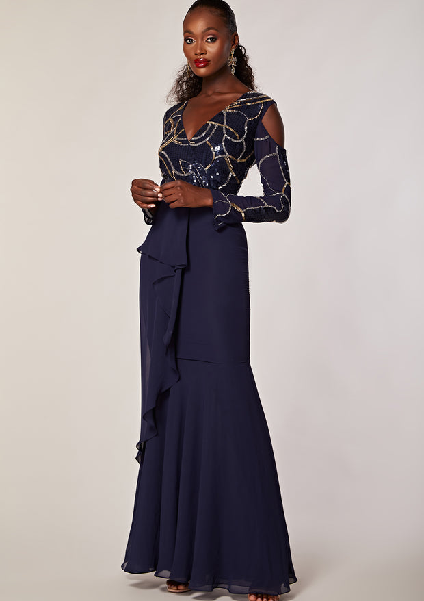MOLLY MAXI DRESS NAVY
