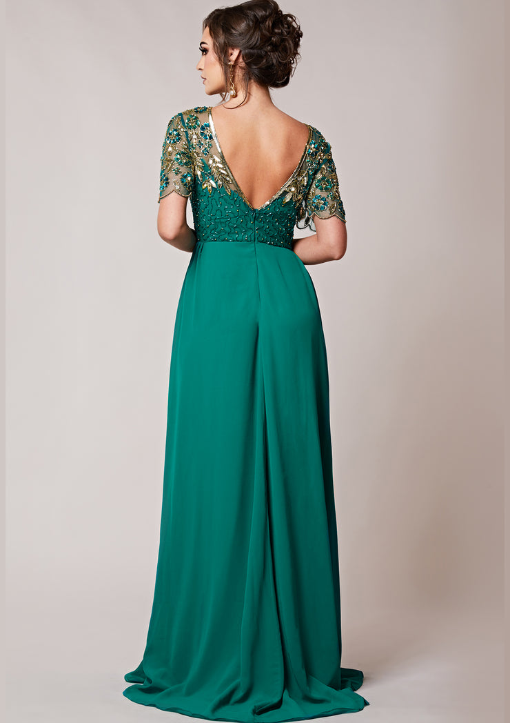 CUSTOM BRIDESMAID Rahaya Dress Teal