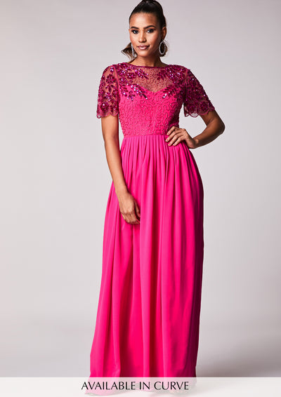 Rahaya Dress Fuschia