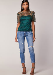Raina Top Green