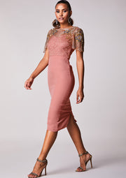 CUSTOM BRIDESMAID Reigna Dress Blush