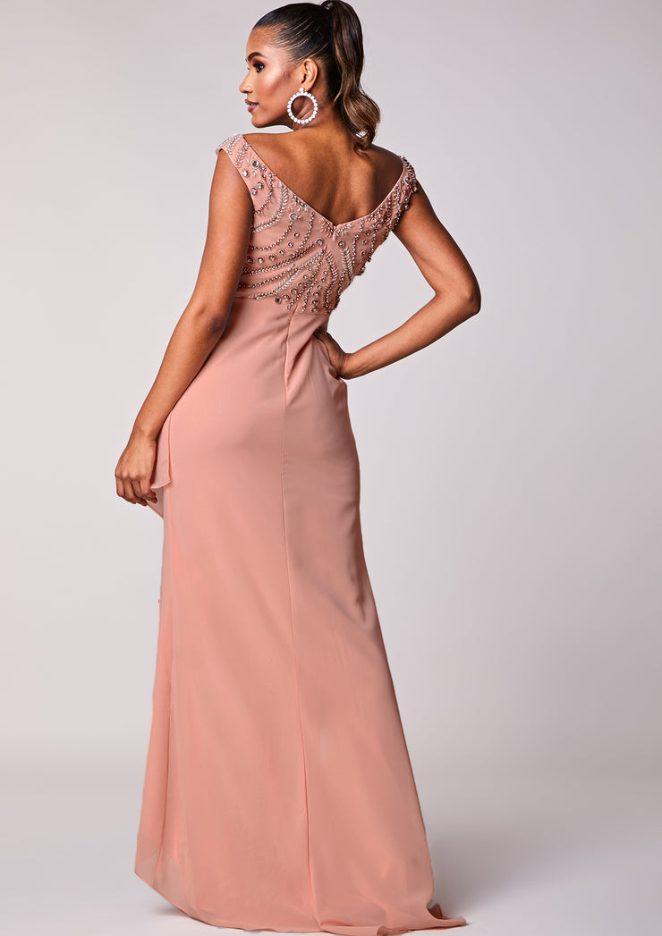CUSTOM BRIDESMAID Rowan Dress Blush