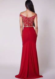 CUSTOM BRIDESMAID Selena Dress Red