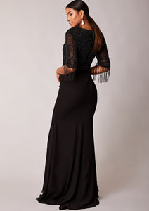CUSTOM BRIDESMAID Sicily Dress Black