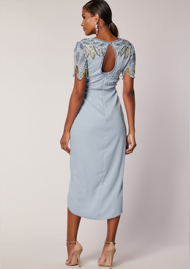 Ursula Midi Dress Ice Blue
