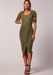 Ursula Midi Dress Khaki