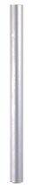 Aluminum tube Ø 22 mm - 300 mm length used for pediatric prosthesis