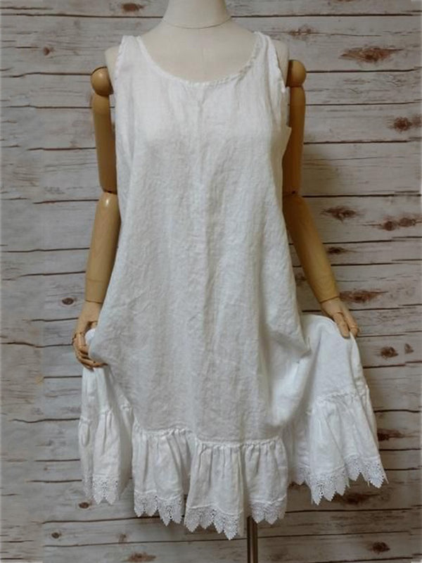 White Vintage Cotton Dresses
