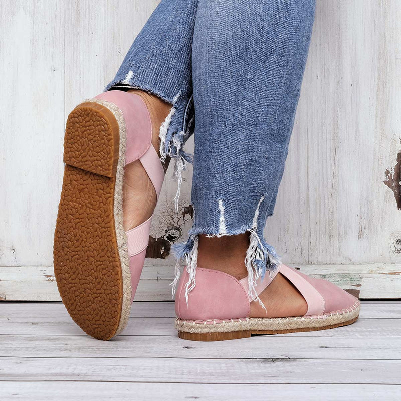 Summer Casual Round Toe Flat Heel Sandals