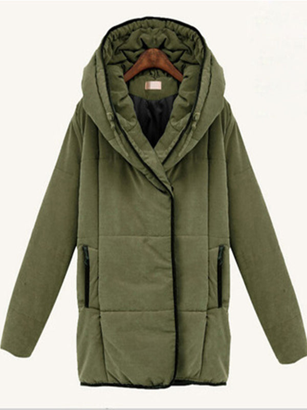 Casual Turtleneck Zipper-Up Winter Coat